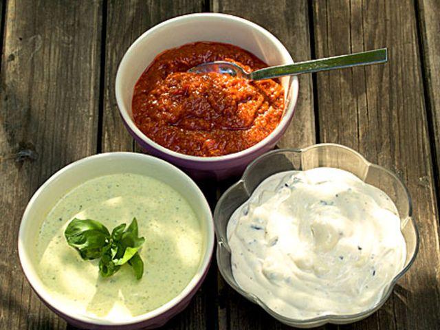 Tre såser till grillat (kock Bonniers kokbok)