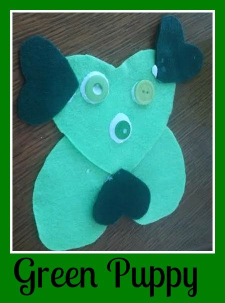 Green Puppy craft for kids - Tales of a Ranting Ginger