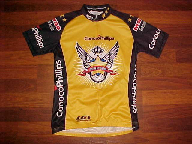 Louis Garneau Conoco Phillips Ride Far For MS Stars Men Bike / Cycling Jersey S #LouisGarneau
