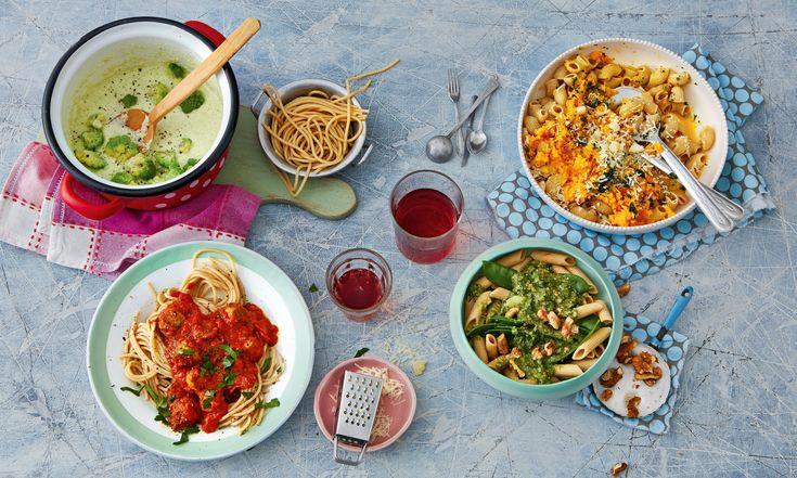 Bitte Möhrensauce (oben rechts) ausschneiden (Foto: Fotos:Julia Hoersch, Food-Styling: Pia Westermann, Styling: Katja Graumann © Julia Hörsch für ZS Verlag)