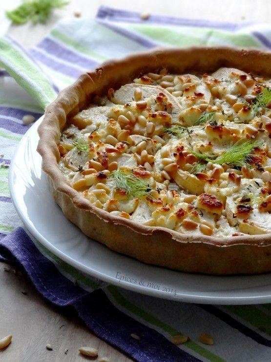 #YummyPomme - Quiche légère au fenouil caramélisé, à la pomme et au chèvre frais