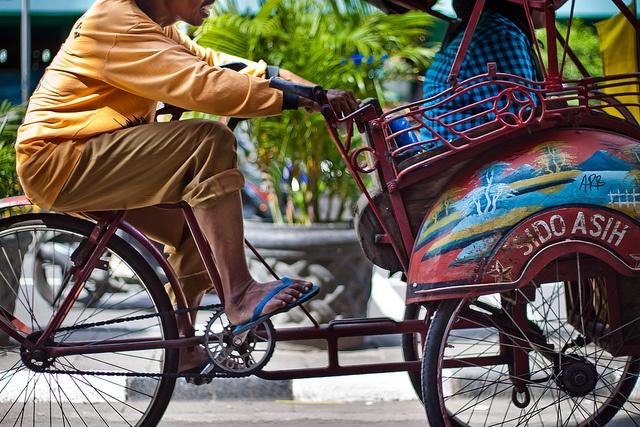 Becak Riding   Indonesia