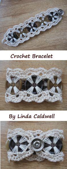 Crochet Button Bracelet
