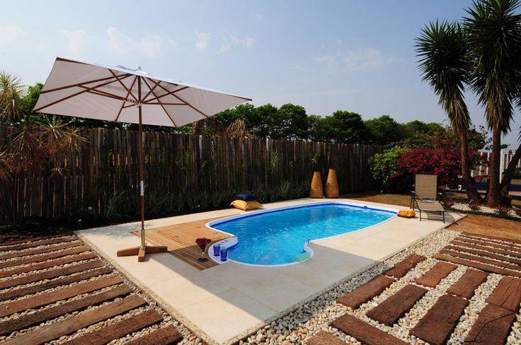 Piscina de fibra linha d decora o e arquitetura for Constructor piscinas