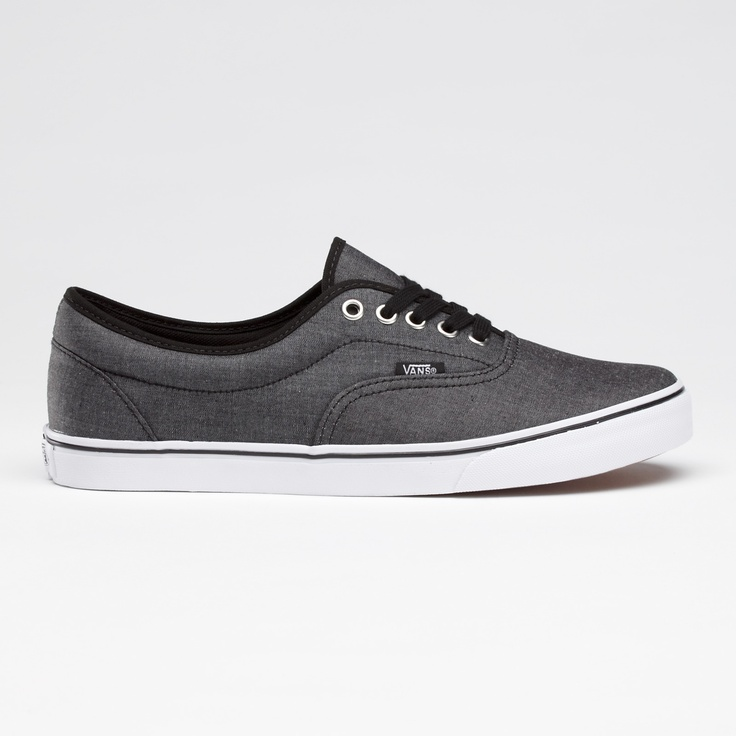 vans chambray lo pro era shoes
