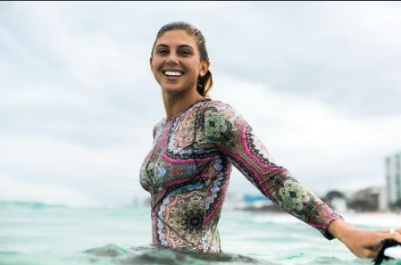 Wallpaper Brazil Girl Pro Surfer Sage Erickson Rocks Our Paisley Rashguard In