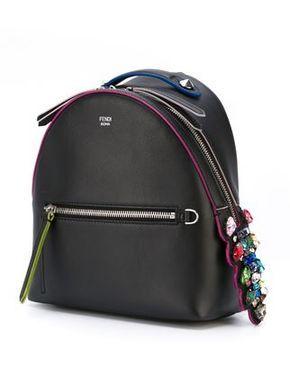 Fendi мини-рюкзак с контрастной окантовкой