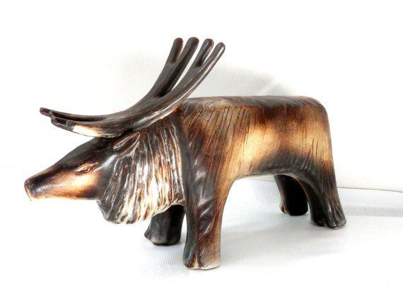 Arabia Ceramics Reindeer by TAISTO KASINNEN by bigbangzero on Etsy, $474.00