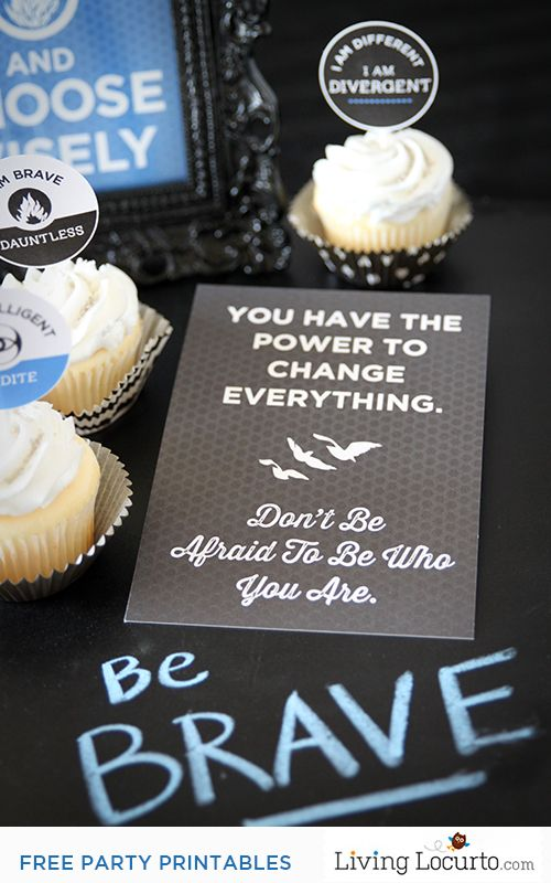 Divergent Party Ideas with Free Party Printables & Quotes great for bedroom wall art!