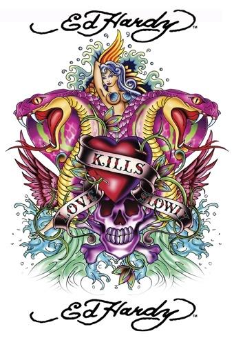 ed hardy art. Funny. I loathe tattoos but love this art...