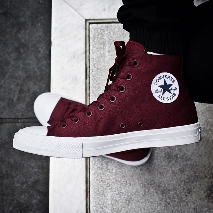 """Converse Chuck Taylor II ""Bordeaux"" ($75) Releasing Thursday, October 1st exclusively at our Lower East Side location #ChuckII #Bordeaux"""