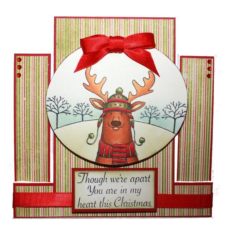 Diese wunderschöne Karte wurde von Laura Williams mit Rodney the Reindeer gemacht. Die lat … – Derrick the Fox & Rodney the Reindeer