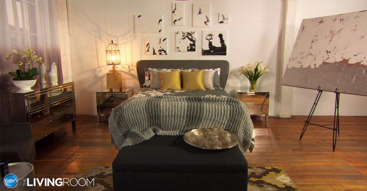 Barry's winning room featuring the #Snooze Venus queen size bed with a curved #headboard and slimline base.   http://www.snooze.com.au/Beds/4242/Venus-Queen-Curved-Headboard-Slim-Line-Base