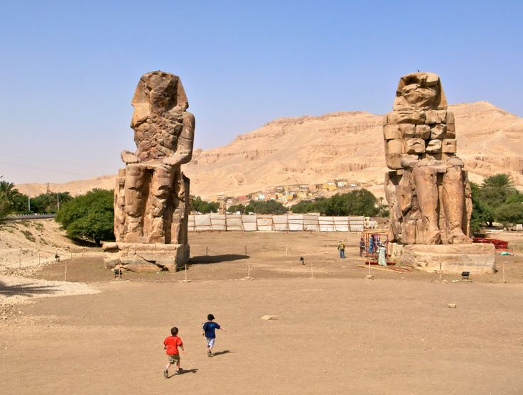 Colossi of Memnon, New Year Egypt Tours http://www.shaspo.com/new-year-packages-christmas-and-new-year-hot-deals-in-egypt