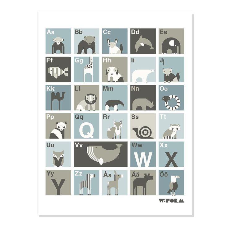 w:form ABC poster dusty blue swedish version 30x40 cm Avaliable in Swedish, Danish, English, Dutch and German #wform #abcposter #abcaffisch #alphabetprint #barnrum #barnerom #børneværelse #barnrumsinredning #childsroom #kidsinterior #kidsroom #abcplakat #abc #interior #interiør #inredning #illustration #illustrations #alfabeth #alfabetet #alfabet #kinderkamer #kinderzimmer #babyzimmer #babykamer #kidsperation #barnrumsinspo #finabarnsaker #nordickidsliving