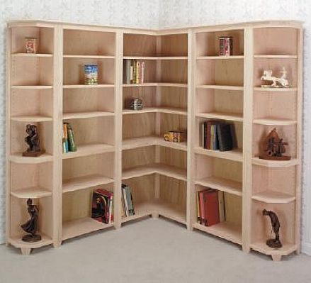 Modern corner bookcase plans design home decoration for Modern corner bookshelf