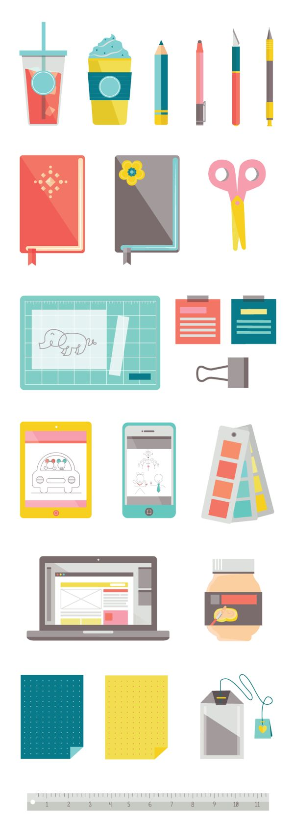 Personal Icons by Jucelle Lim, via Behance