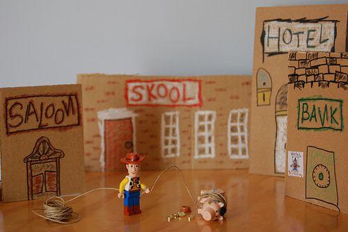 Andy S Room Cardboard Box