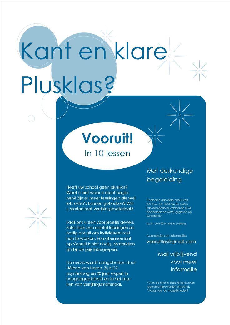 Kant en klare plusklas 2016 www.verrijkjedag.nl www.quistet.nl