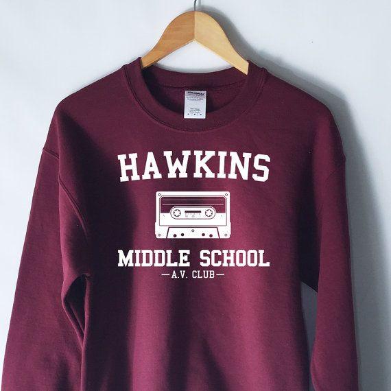 Hawkins Middle School AV Club Sweatshirt  by WildHeartsUSA on Etsy