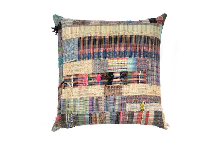 Woven Patchwork cushion by Joanna Louca