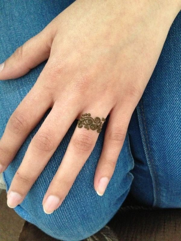 Henna Style Tattoos Lace Tattoo: Finger Henna, Ring Tattoo Designs