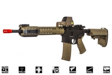 Black Rain Ordnance Fallout 15 Recon Battle Rifle AEG Airsoft Gun by King Arms ( Black / Dark Earth )