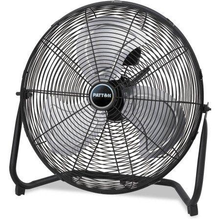 Patton High Velocity Fan, Three-Speed, Black, 8.58 inchW x 22.83 inchH