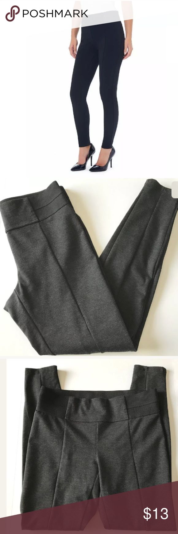 "Daisy Fuentes Women's Gray Leggings Pants Medium Daisy Fuentes Women's Gray Stretch Leggings Pants Medium Charcoal Heather!! Preowned!! Excellent Condition!! Inseam 28"" Daisy Fuentes Pants Leggings"
