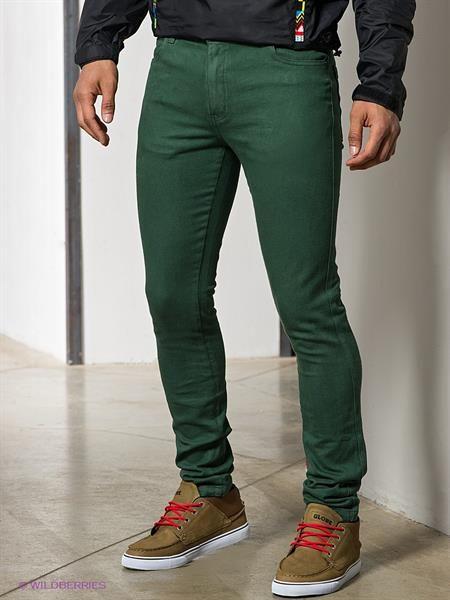Темно зеленые джинсы где купить