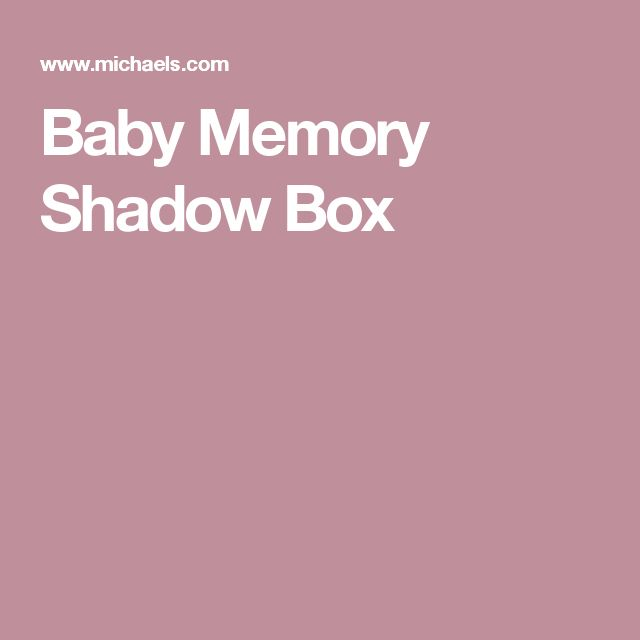 Baby Memory Shadow Box