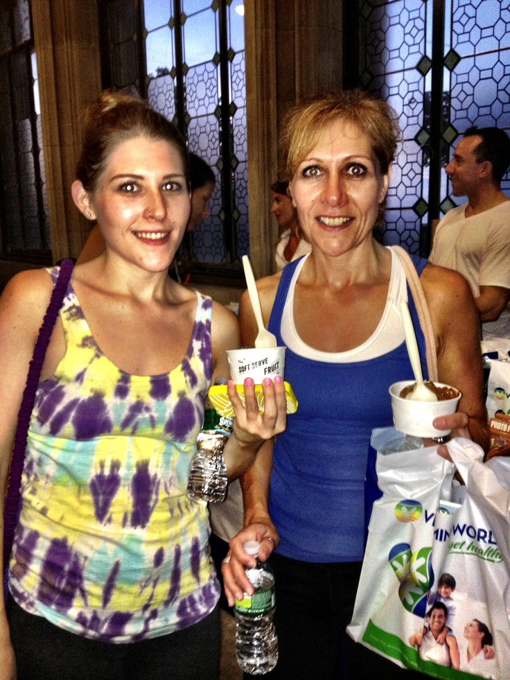 What a pair! Did you miss the event? Try our signature Soft Serve Fruit at Bagel Boss Roslyn
