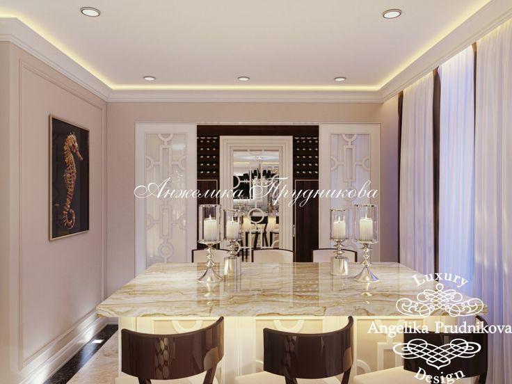 Дизайн проект интерьера гостиной стиле Ар Деко в Звонарском переулке - фото
