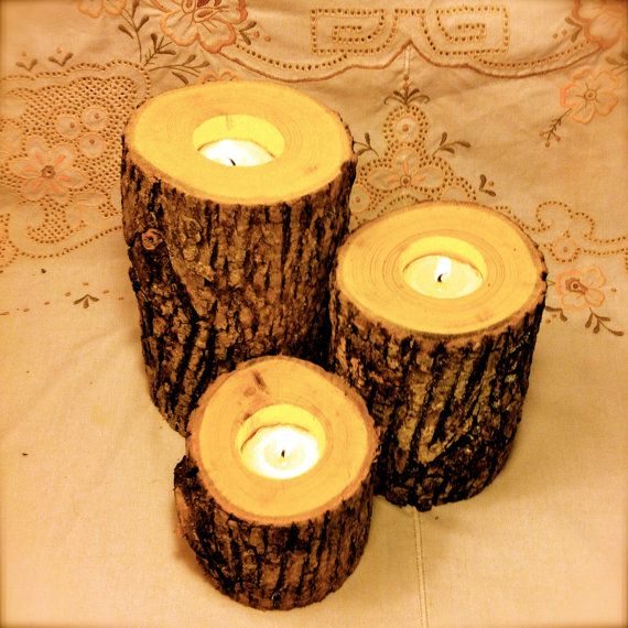 Best ideas about wedding log centerpieces on pinterest