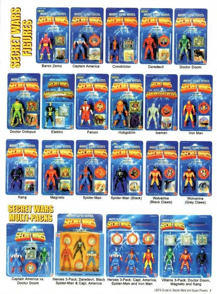 Marvel Secret Wars Toys from the mid 80's. I never had any of these, but it would be an interesting toyline to have in my collection.