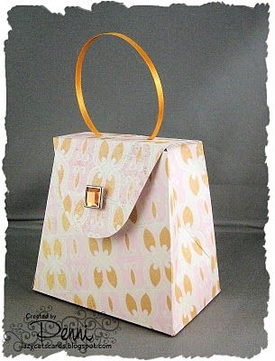 Handbag gift box: free template to download