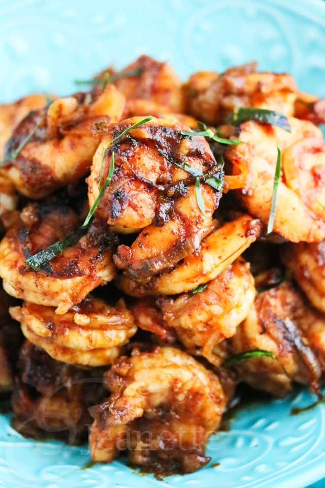 Shrimp with Thai Chili Paste © Jeanette's Healthy Living