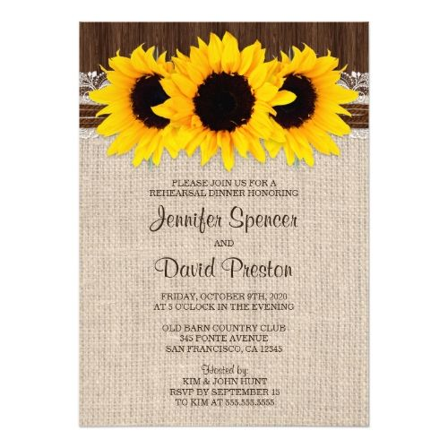 862 best Sunflower Wedding Invitations images on Pinterest