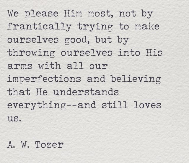 This is such a comforting thought. Love Tozer!