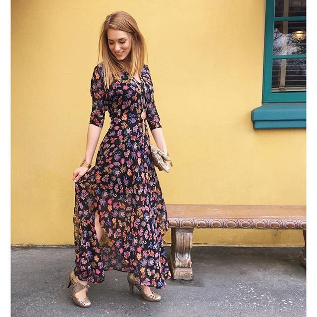 Yellow maxi dress anthropologie