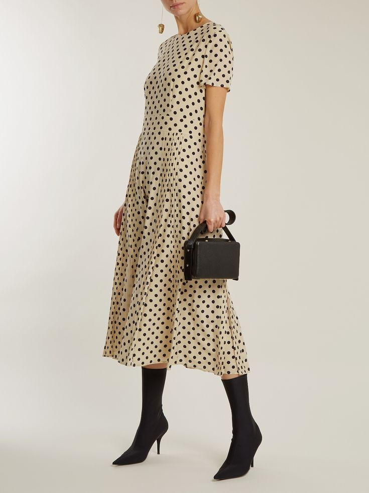 Corin polka-dot print silk dress | Burberry | MATCHESFASHION.COM