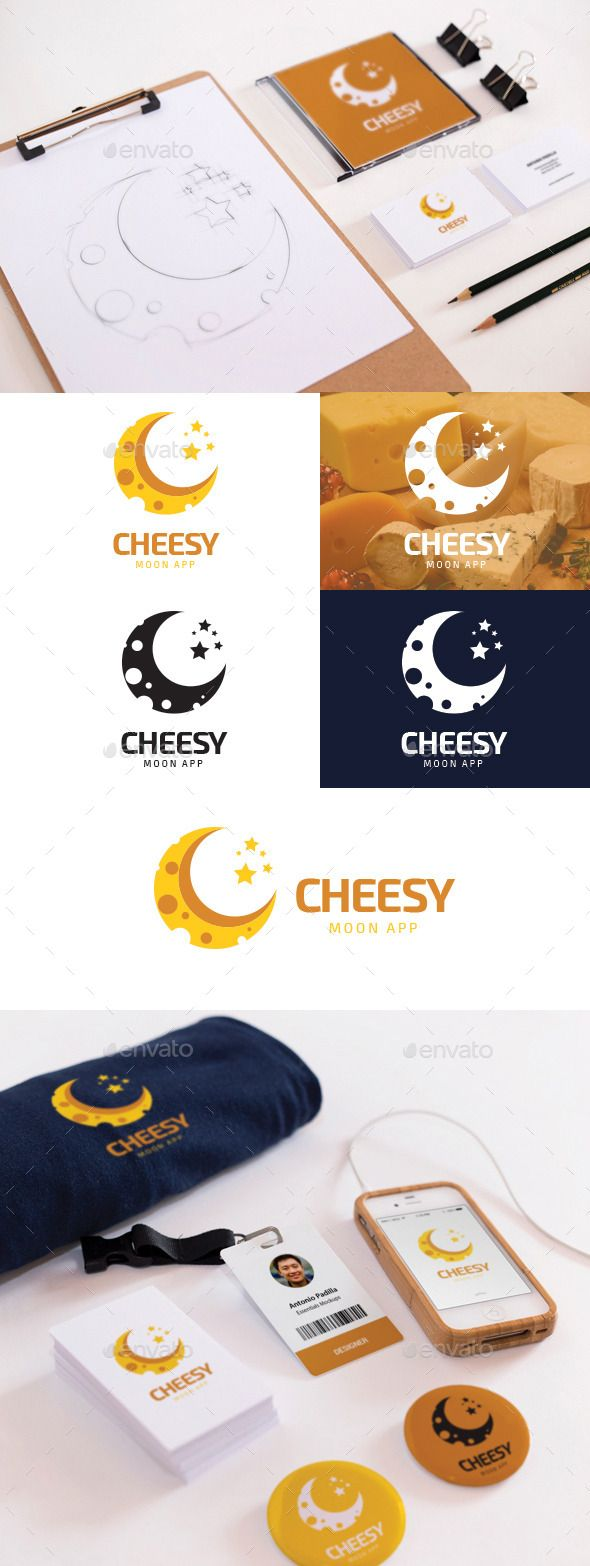 Cheesy Moon Logo Template #design Download: http://graphicriver.net/item/cheesy-moon/12024935?ref=ksioks