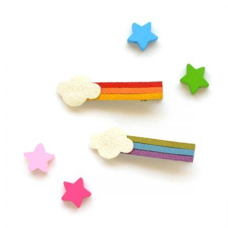 hello shiso rainbow hair clips for girls