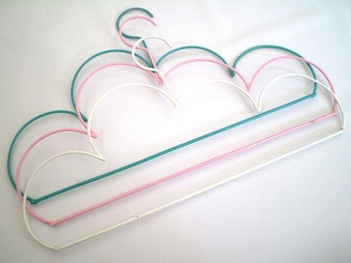 hanging on a cloud.... Pretty adorable.: Decor, Clouds, Cloud Hangers, Hangers Cloud, Things, Baby, Diy, Products
