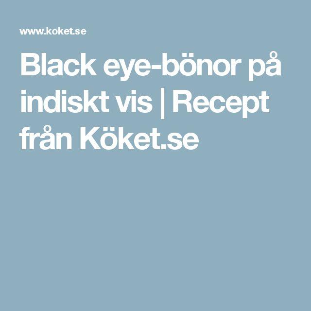 Black eye-bönor på indiskt vis | Recept från Köket.se