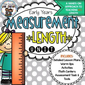 Length Measurement Unit:This Length Measurement unit contains EVERYTHING you need to teach and assess your K-1 students the concept of Length, using a hands-on and engaging approach.