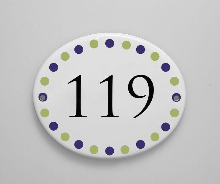 Hausnummern - Hausnummer Namensschild Porzellan - ein Designerstück von Schild_er_kroete bei DaWanda
