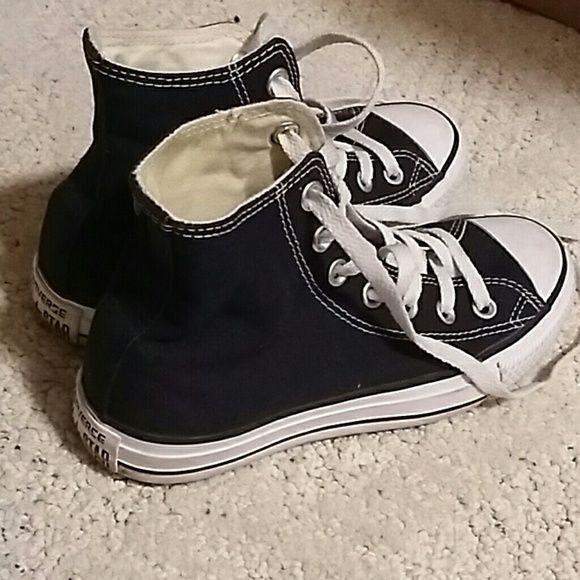 Converse Shoes - Black high top converse  (5.5 women/3.5 men)