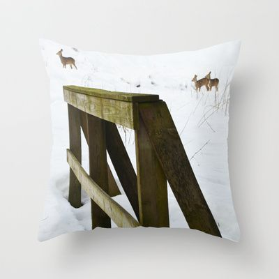 "Throw Pillow / Indoor Cover (16"" X 16"") • 'Rådyr' • IN STOCK • $20.00 • Go to the store by clicking the item."