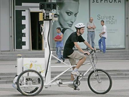 bike rider photographer for google maps